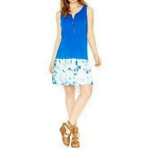 Kensie Placement Tie-Dye Shift Dress